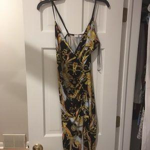 Black and gold cocktails dress